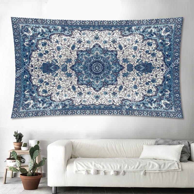 Mandala Tapestry 100d Polyester Wall Hanging Carpet Throw