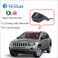 YESSUN Car DVR Digital Video Recorder Front Camera Dash Black Box For Jeep Compass HD 1080P Not Reverse Parking Camera
