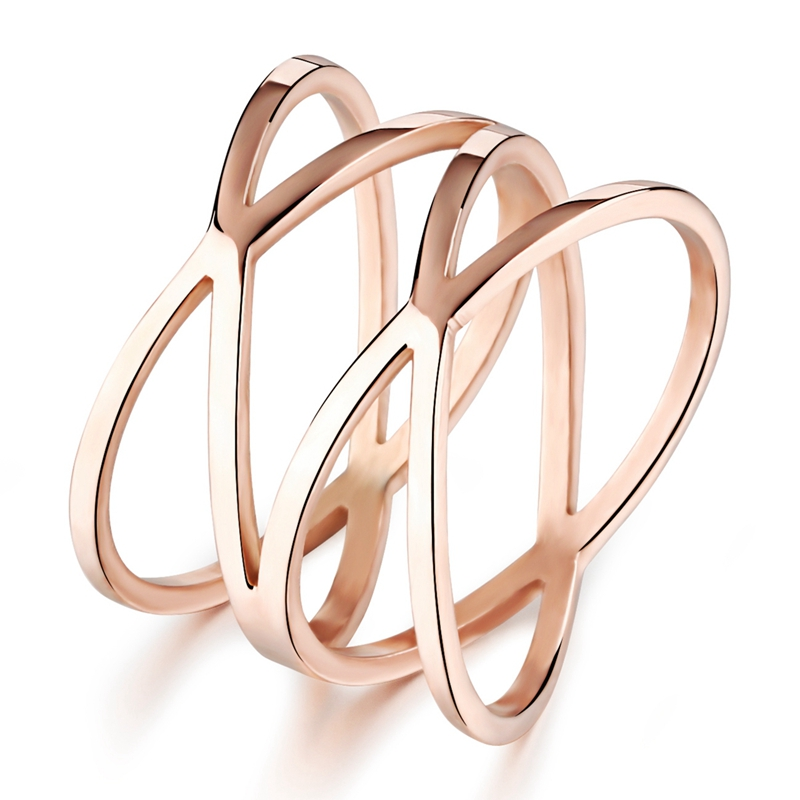 Lasperal 1 шт. Chic полые Для женщин кольцо Golden Rose покрытие Нержавеющаясталь кольце сетки Кольцо
