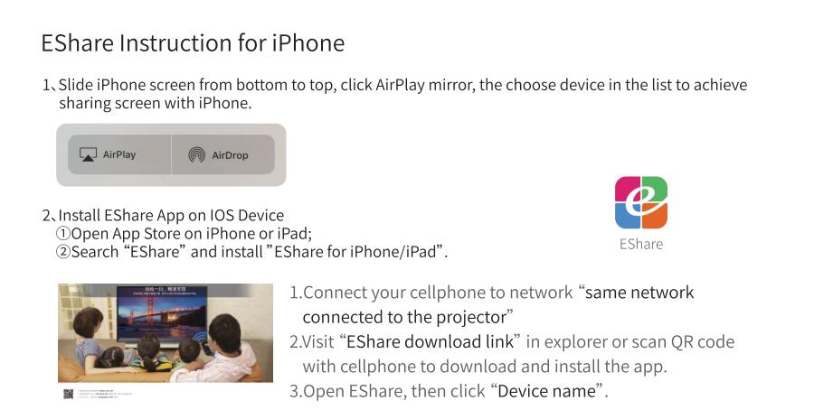 E-share instruction for iPhone