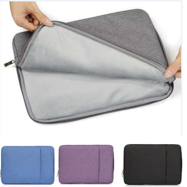 9709c1f4d520 11 11.6 13 13.3 Inch Soft Nylon Laptop Sleeve Bag Waterproof Notebook case  For apple mac