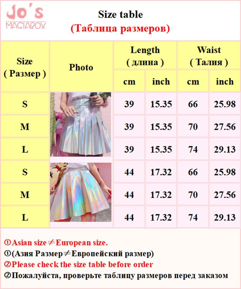 Holografiska pläterade kjolar Kvinnor PU Solid Harajuku Casual Sexy - Damkläder - Foto 6