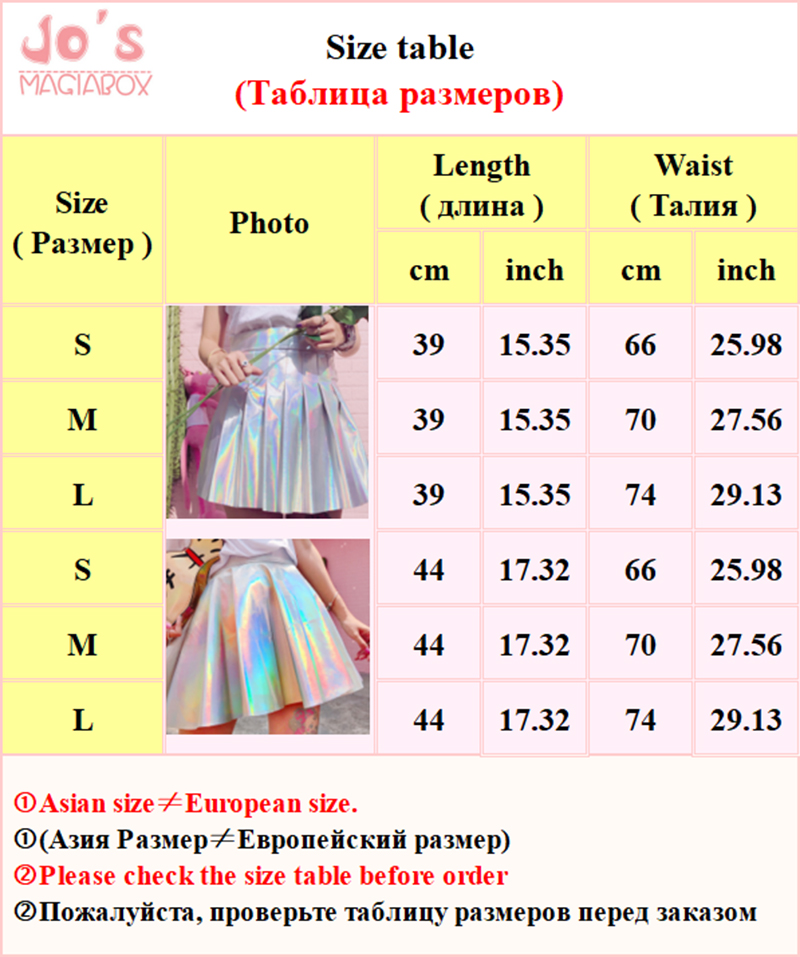 Holografiske plissede skjørt Kvinner PU Solid Harajuku Casual Sexy - Kvinneklær - Bilde 6