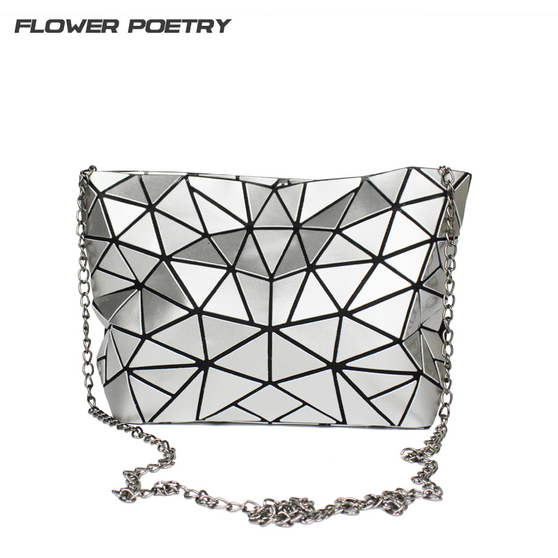 2017 Famous Brand Bao Bao Women Bag High quality Geometric Handbags Plaid Chain Shoulder Crossbody bags Laser BaoBao Diamond Bag 2017 fashion tote laser bag women baobao hand bags summer geometric bao bao handbag ladies famous brands shoulder bag big
