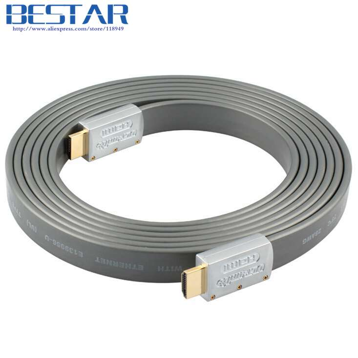 HDMI 2.0 Flat cable HDMI to HDMI cable 1M 2M 3M 5M 4K * 2K HDMI cable 1080P 3D for PS3 projector HD LCD Apple TV Computer cable
