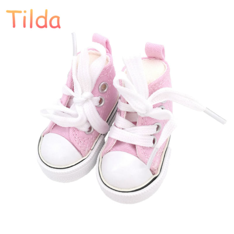 Tilda 6cm Canvas Sneakers For Paola Reina Doll,Fashion Mini Toy Gym Shoes 1/3 Bjd Doll Sports Shoes for Dolls Accessories canvas shoes for paola reina doll fashion mini toy gym shoes for tilda 1 3 bjd doll footwear sports shoes for dolls accessories