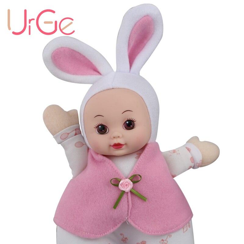 30cm En Peluche Doux kawaii Bande Dessinée Lapin Poupée Doux En Silicone Bébé Reborn jouets Poupées pour filles Anniversaire Cadeau De Noël URGE