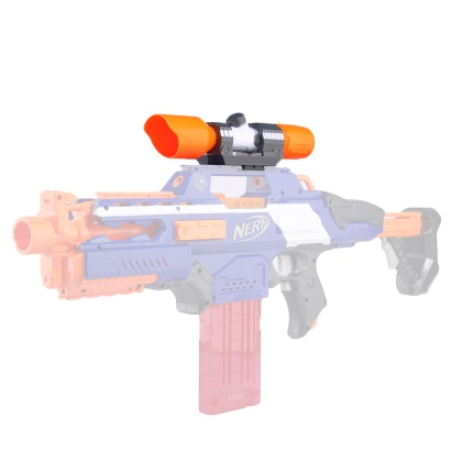 Dispositivo de avistamiento de tubo frontal de pieza modificada para Nerf Elite Series-naranja + gris