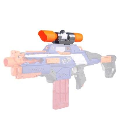 Geändert Teil Vorne Rohr Sichtung Gerät für Nerf Elite Serie-Orange + Grau