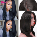 Yaki Synthetic Hair Lace Front Wig Heat Resistant Fiber Black Hair Wigs Short Bob Synthetic Lace Front Wigs For Black Woman