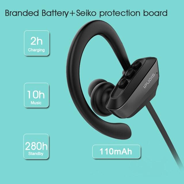 IPUDIS Sport Bluetooth Waterproof Wireless Earphone 3