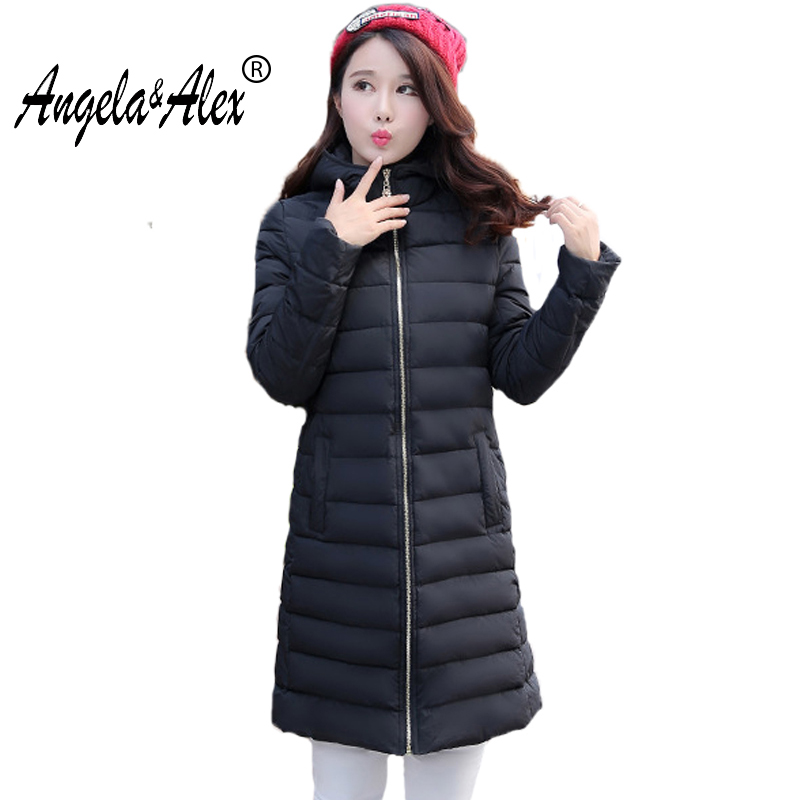 2017 new Autumn and Winter Medium-long Jacket Women Fashion Hooded Cotton Parkas Warm and Comfortable Female Slim Coats new 2017 winter hooded jacket women cotton wadded overcoat medium long slim casual fashion parkas female denim blue coats cm1509