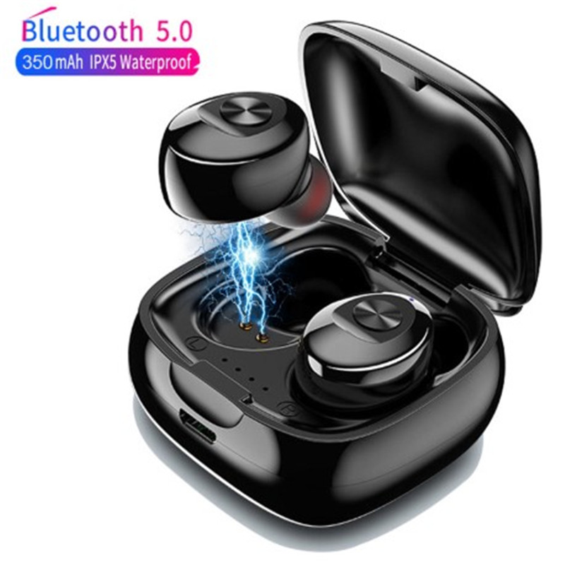 XG12-<font><b>TWS</b></font> <font><b>Bluetooth</b></font> V5.0+EDR IPX5 Gaming Headset with Mic For Xiaomi Huawei Phone 3D Stereo Sound Earbud Noise Cancel Headset image