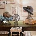 Envío gratis la Mejor Calidad 1 unids Cabeza de Maniquí cabeza de Maniquí para el sombrero Más Nuevo Metal Hierro Display Cabeza de Maniquí Para El Sombrero estante