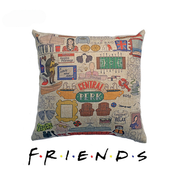 New Zippered Pillow Cushion 14 X 14 Inch For Friends The