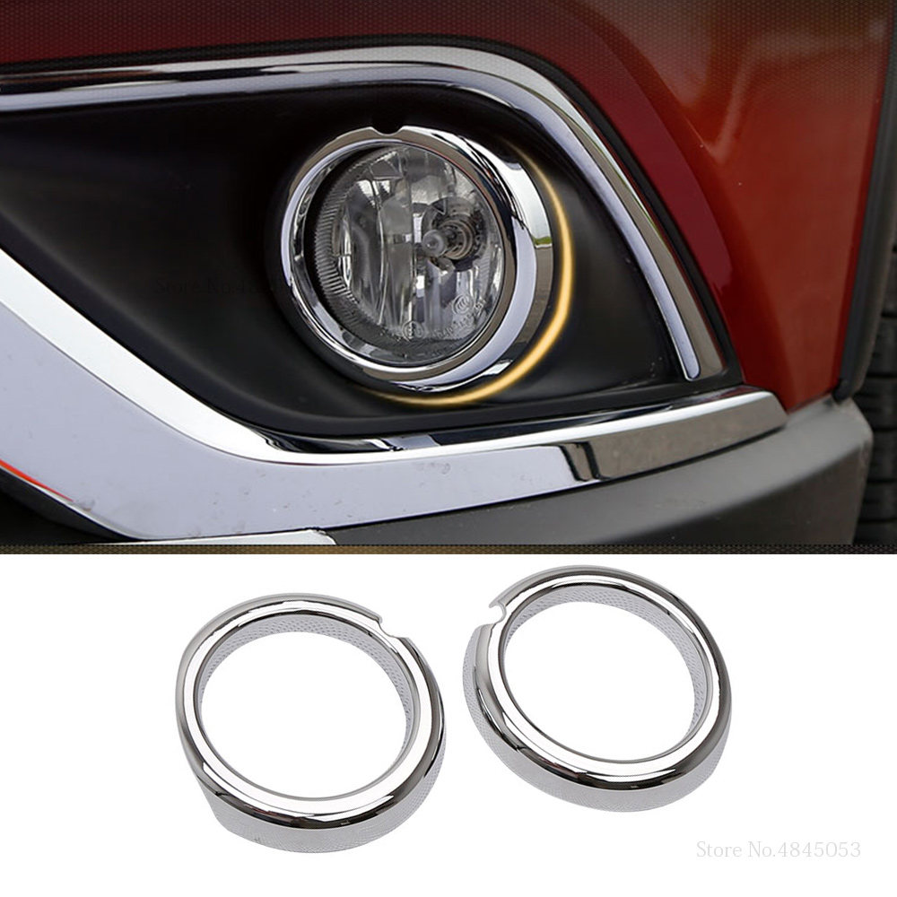 ABS Chrome Front Fog Light Lamp Cover Trim for Mitsubishi Outlander 2016 2017