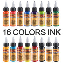 Wholesale-New Arrival 30ML / Bottle 14 Colors Long Lasting Tattoo Ink Fast Pigment Kit Inks Set Art Tools High Quality