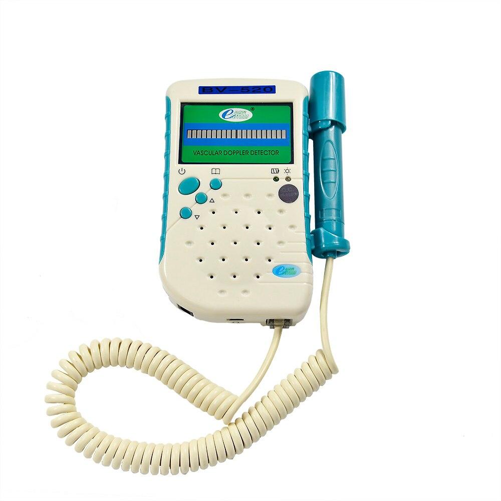 8 Mhz Bleistift Sonde Gefäßdoppler Blutfluss Herzfrequenz-detektor Arterielle & Vene Led-anzeige Gefäß Fluss Festigkeit BV520 freies verschiffen