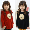 Free shipping!New 2015 Spring and autumn child clothes,baby girls long sleeve t-shirt,Casual,Flower,girls clothing,girls shirt