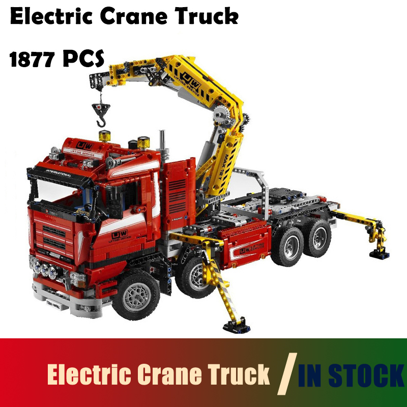 Compatible with lego Model Building Blocks toys 20013 1877pcs Technic Ultimate Mechanical Series The Electric Crane Truck 8258 staedtler набор чернографитовых карандашей 133 9 с точилкой и ластиком 2 шт