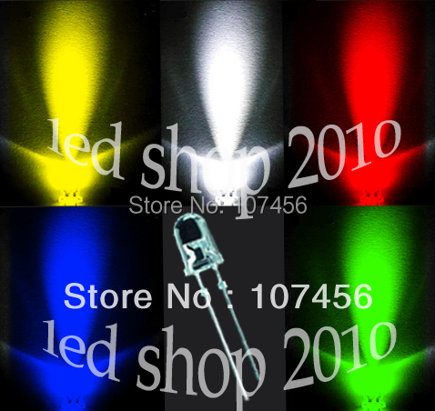 Active Components 500pcs,5 Value Ultrabright R,g,b,w,y,leds,5mm free Resistors Free Shipping 5mm Light-emitting Diode