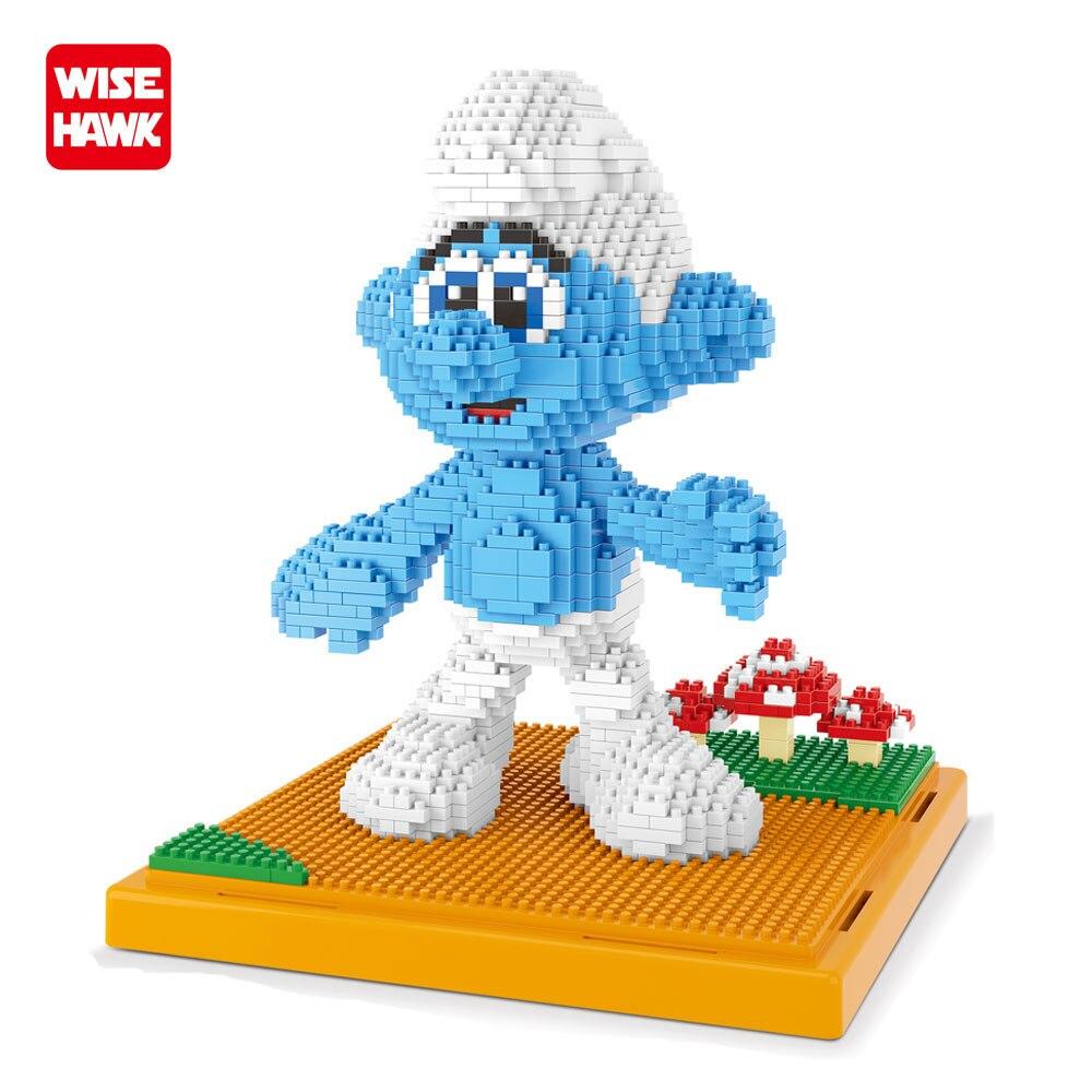 WISEHAWK Bausteine Unbeholfen Diamant Bricks 1163 STÜCKE Montage Modell Amin Figures Cartoon Lernspielzeug Für Kinder Juguetes.