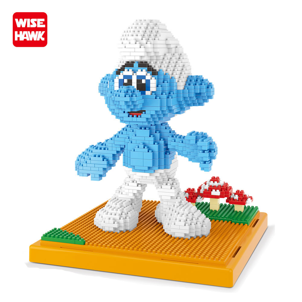 WISEHAWK Building Blocks Clumsy Diamond Bricks 1163 PCS Assembly Model Amine Figures Cartoon Educational Toys For Kids Juguetes. wisehawk nano star wars yoda building blocks big size characters figure educational toys diy assembly micro brick christmas gift
