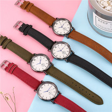 Student Fashion Leather Strap Analog Quartz Wrist Watch Luxury Simple Style Designed Bracelet Watches Women Clock 2019