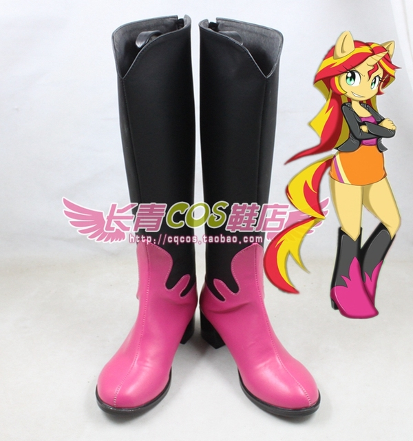 95d1a9557c4a Sunset Shimmer cosplay Shoes Boots Custom Made 3311-in Shoes from ...
