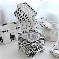Nueva caja de almacenamiento de cosméticos de maquillaje de dibujos animados Zakka bolsa de almacenamiento organizador plegable contenedor cesta de almacenamiento cajas organizadoras AU748