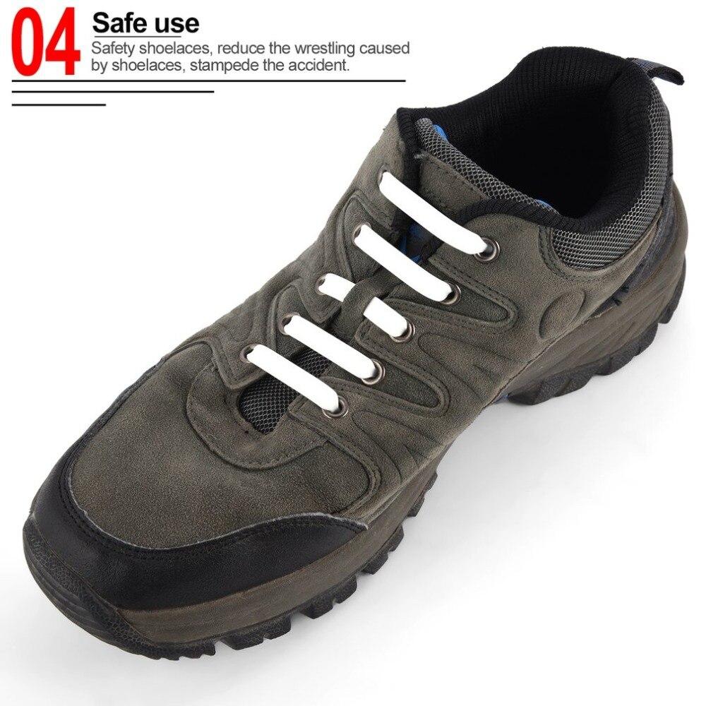 12PCS/Set Elastic Shoelaces Unique Lazy Silicone Shoe Lace Suitable For All Sports Shoes Fit Strap Men Women All Sneakers