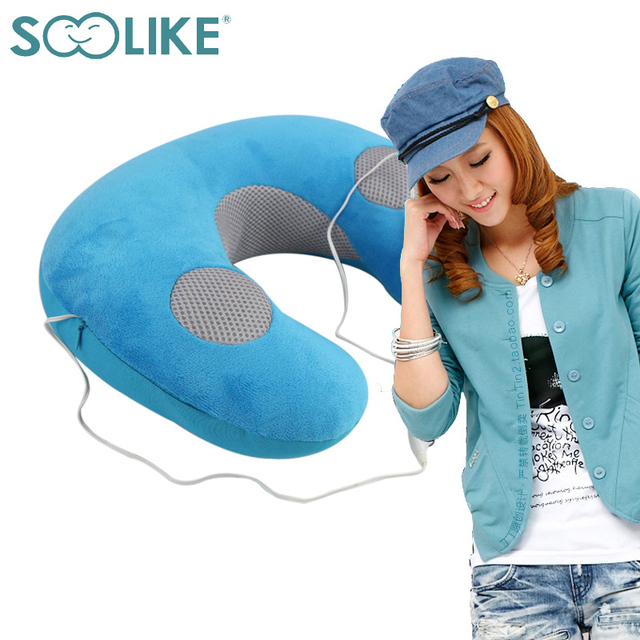 Soolike fabulous particle u shape neck music pillow memory cervical care MP3  speaker bed travel musical