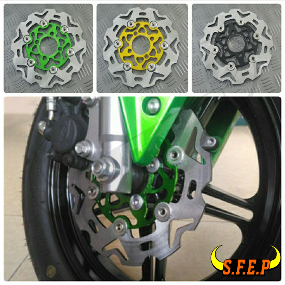 Full Floating Front Brake Disc Rotor For Kawasaki Z125 Z125Pro pro jewelry floating mini charms for floating locket