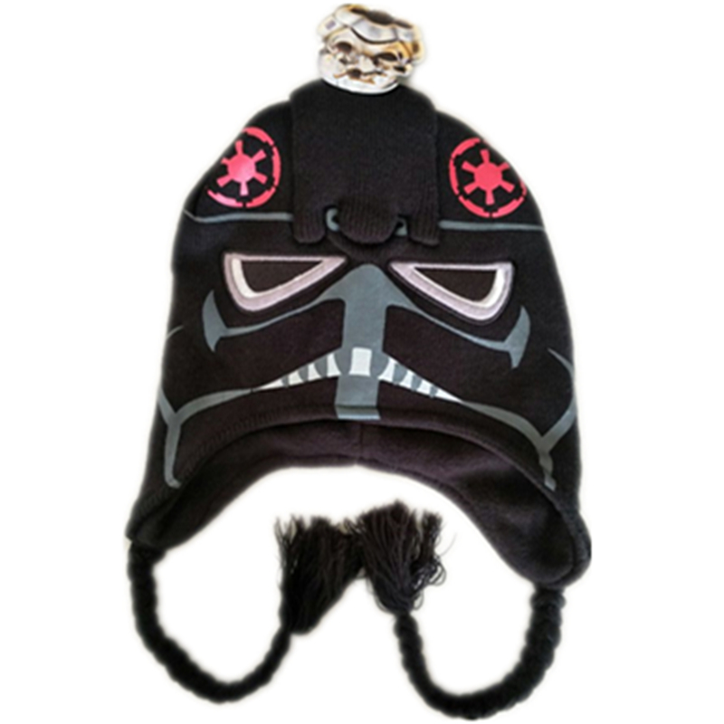 "Boys//Mens STAR WARS /""Darth Vader/"" Knit Gloves Stretchable Dark Blue One Size NEW"