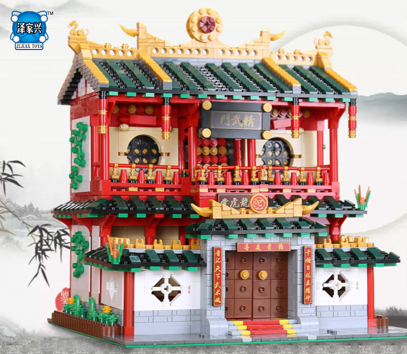 New XingBao Block Genuine Creative Building Series The Chinese Martial Arts Set Building Blocks Bricks Toys Compatible Lepins xingbao 01001 creative chinese style the chinese silk and satin store 2787pcs set educational building blocks bricks toys model