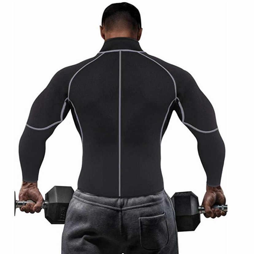 CHENYE мужской тонкий талии неопреновый боди для тренировки на молнии топы с длинными рукавами, уменьшающие Корректирующее белье Фитнес корсеты для коррекции фигуры контроль