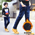 Winter Children Add Wool Jeans Boys Pants High Quality Kids Children's Red Line Denim Trousers 6-18years