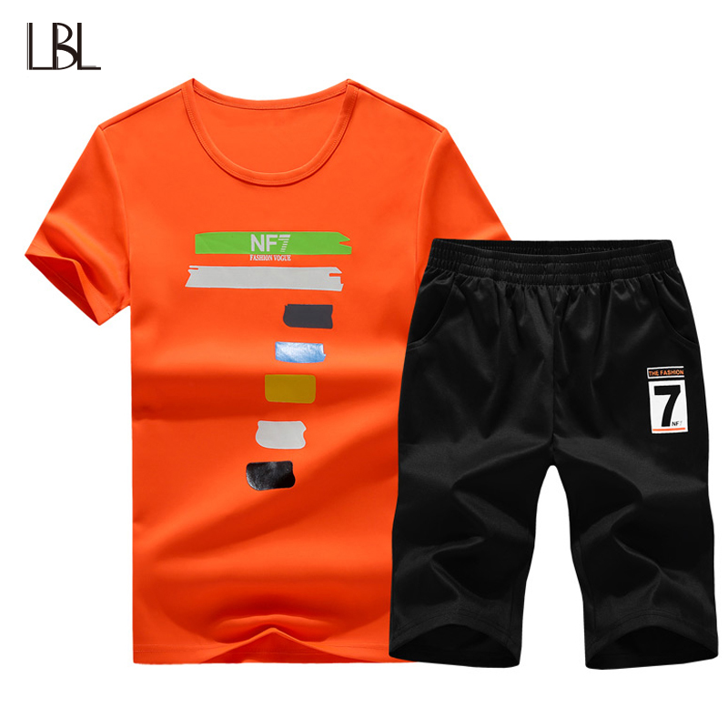 Mens Shorts Casual Suits Sportswear Mens Tshirts Sets New Fashion Tracksuit Short Sleeve Sweatshirt Summer Set Men Streetwear