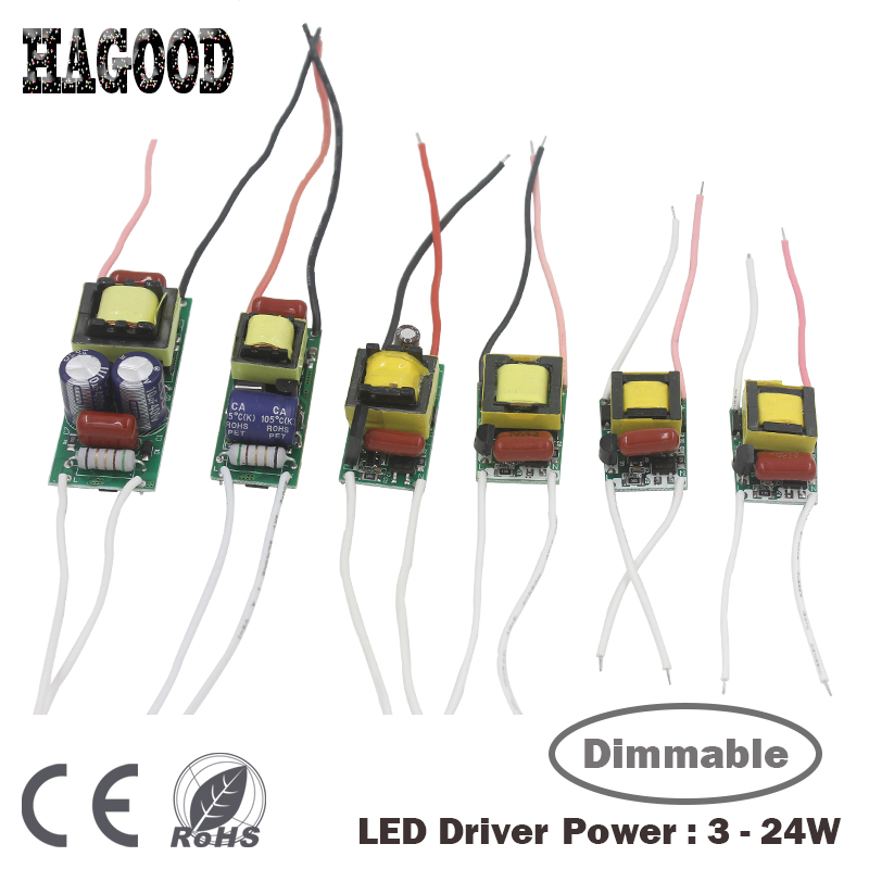 Dimmable LED Driver 3-24W Input AC90-265V Power Supply Adapter DC9-84V Current 300mA Light Transformer for Led Lamps/Bulb