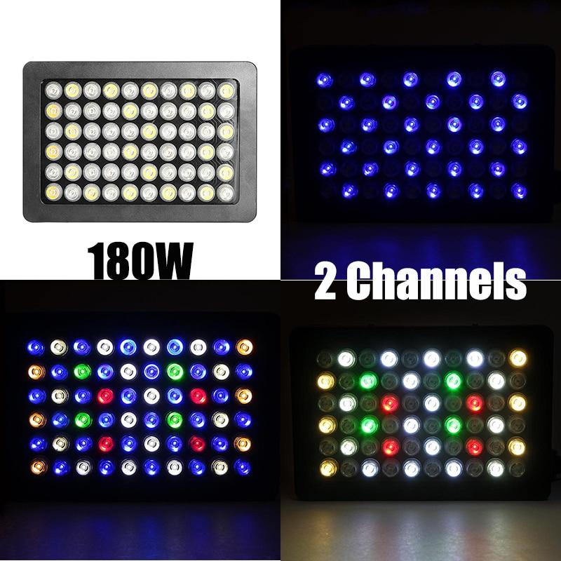 180w Full Spectrum Led Aquarium Light Dimmable 2 Channel