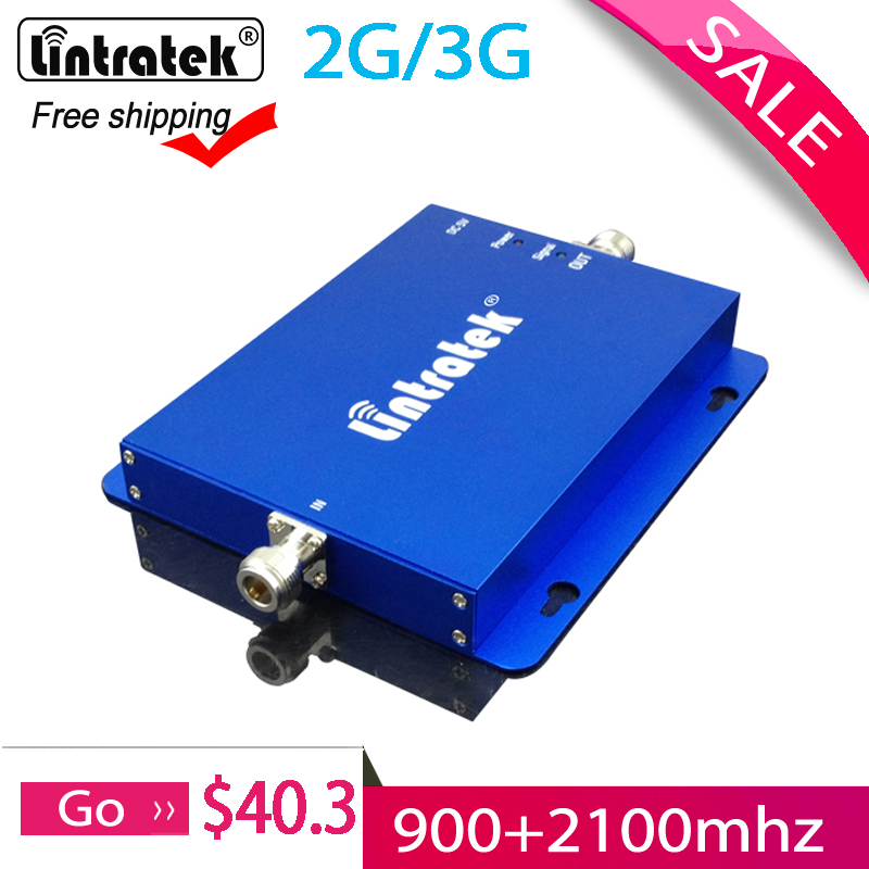Free Shipping 900 2100mhz Signal Booster Amplifier 2G 3G Band 1 WCDMA GSM Repeater Signal Mobile Phone Booster For Home #50