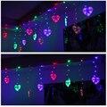 Светодиодная сердечная гирлянда для рождественской свадебной вечеринки  декоративная лампа 220В GHS99