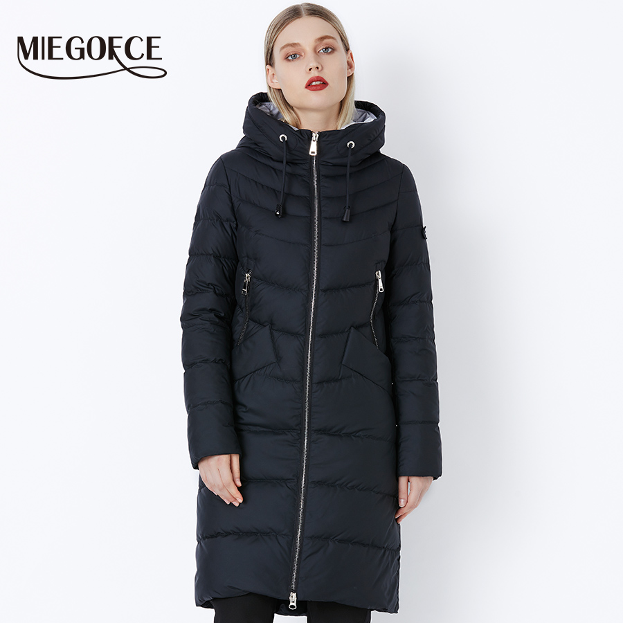 Miegofce New Winter Women's Jacket coat Simple Women Parkas Warm Winter Women's Coat High-quality Biological-Down Parkas