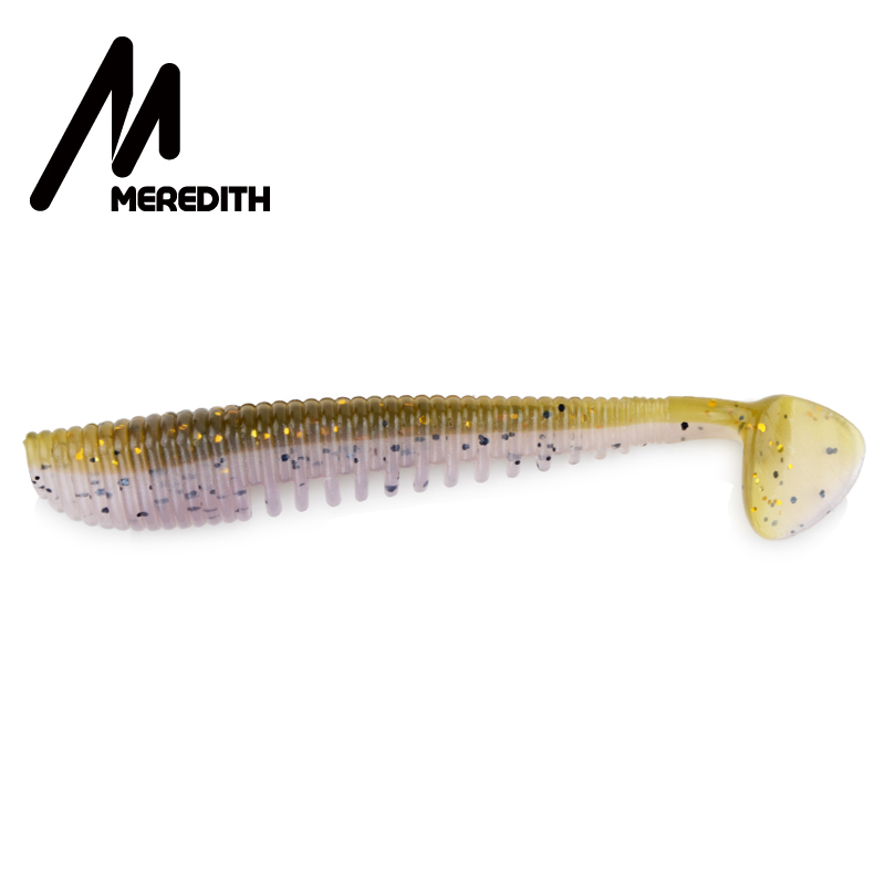 MEREDITH Awaruna Fishing Lures 8cm 10pcs 3.2g Wobblers Artificial Soft Lures Shad Carp Silicone Fishing Soft Baits Tackle