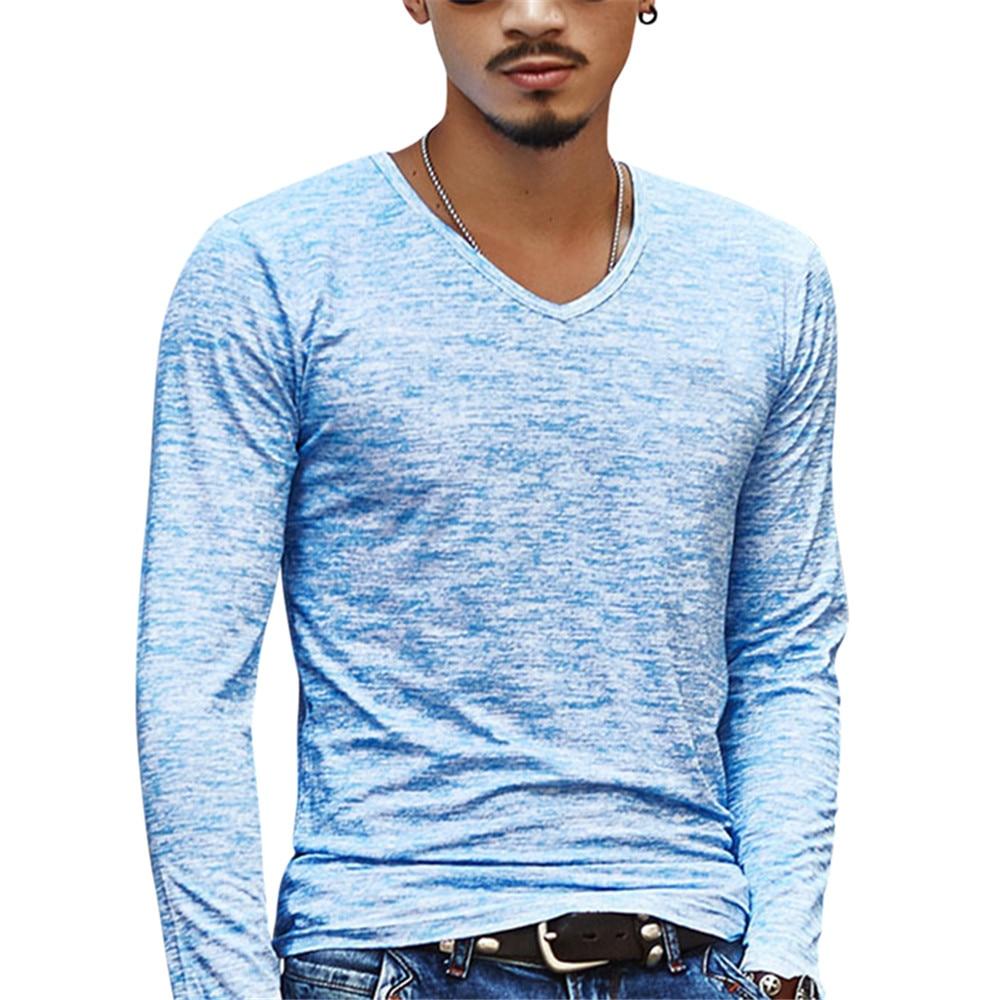 6cda32b16999 2018 NEW Trendy Summer Men T Shirt Casual Long Sleeve Slim Men s Basic Tops  Tees Stretch T-shirt Chemise Homme Brand Clothing