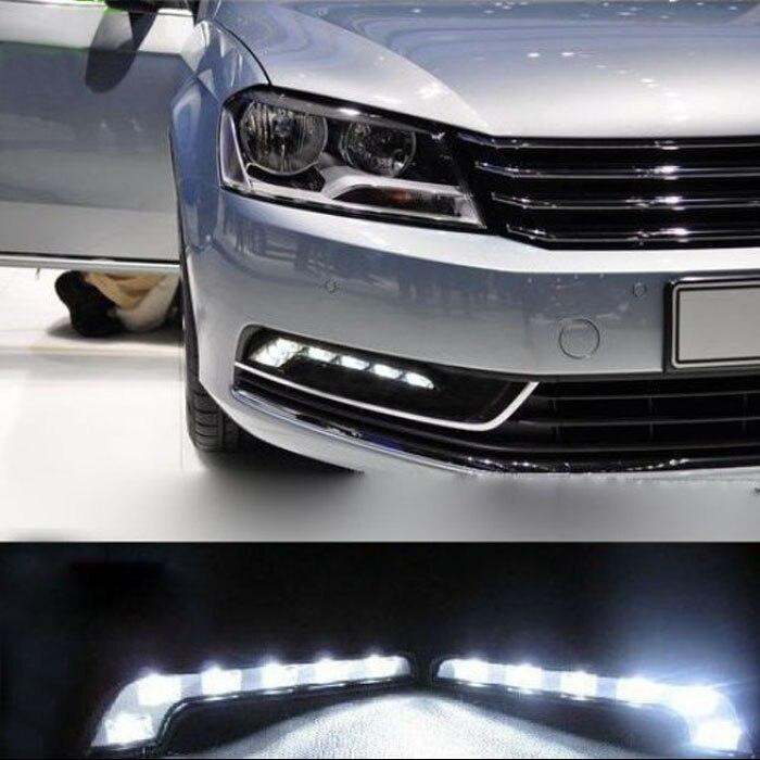 kongyide Healight Bulbs New 2X 6LED White Car Driving Lamp Fog 12v Universal DRL Daytime Running Light NOV10