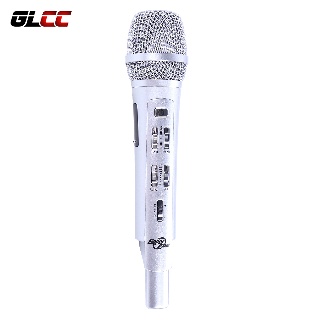 K9 FM RAD 107.6HZ Car Microphone K song Pocket Karaoke KTV microphone For IOS Android Phone Smartphone Table PC Car with speaker