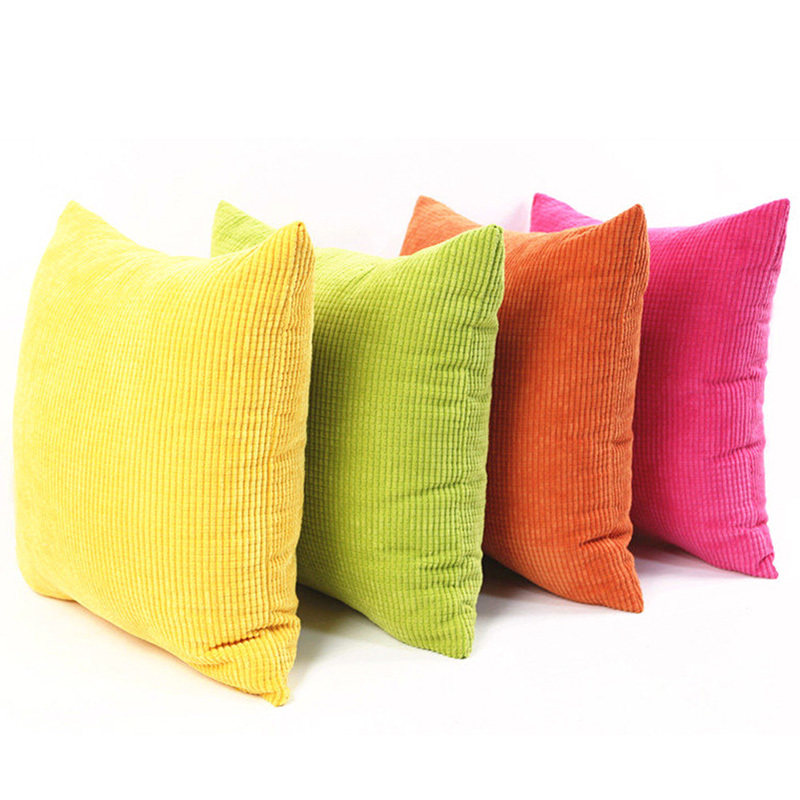 Home Throw Pillow Case Cotton Linen Cushion Living Room Bed Chair Seat Cushion Pillowcases 55X55cm