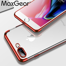 MaxGear Phone Case For iPhone X 7 6 6S 8 Plus Transparent Cover For iPhone 7 8 6 6S Plus Clear Case Soft TPU Silicon Shell Capa