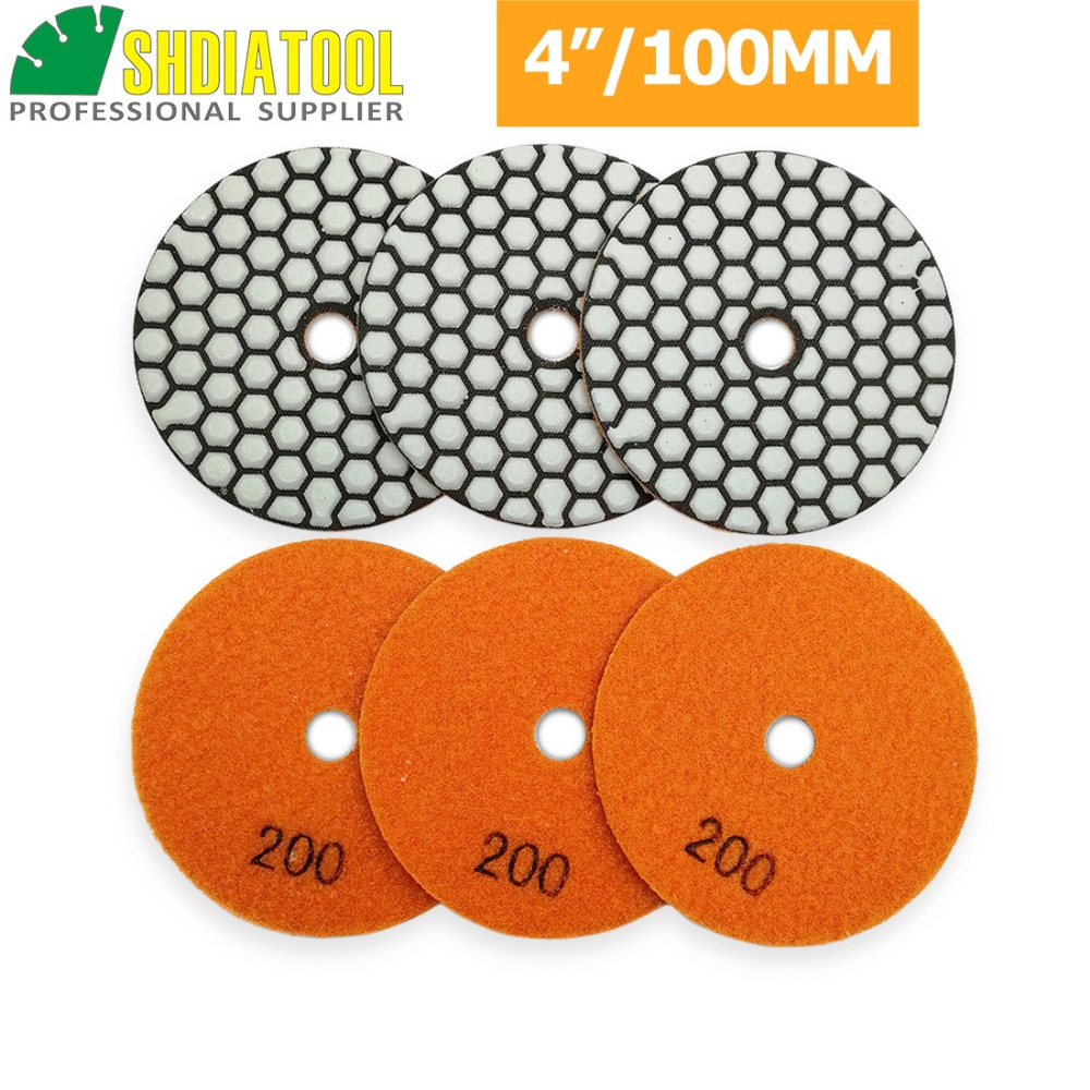 "5/"" Polishing 25 Pad Aluminum Rubber Backer marble stone Concrete floor fabricate"